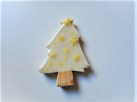 TOMI-kobo クリスマスツリーの箸置き(白・大)