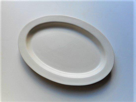 ANCIENT POTTERY オーバルプレート(ホワイト)