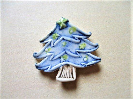 TOMI-kobo クリスマスツリーの箸置き(青�3)