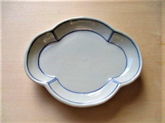 山本たろう(魚雲窯) 木瓜型皿 (磁器)