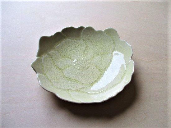 瀬戸焼 ボタン皿 (きはだ色)