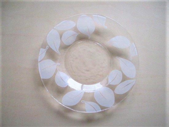 ルッコラ ガラスプレート