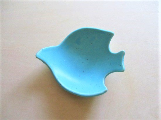 長浜由起子(やぶから房)作 コトリ小皿(トルコブルー)