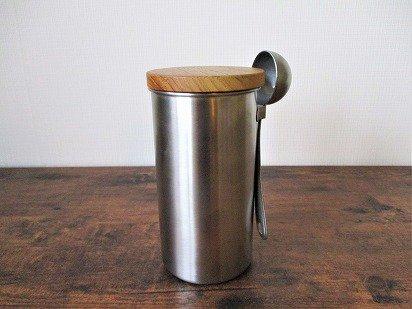 ステンレス コーヒーキャニスター(メジャースプーンセット)