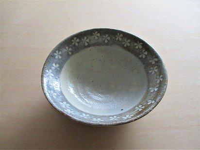 三島柄(花) たわみ鉢