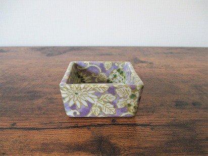 美濃焼 豆角鉢(山紫)