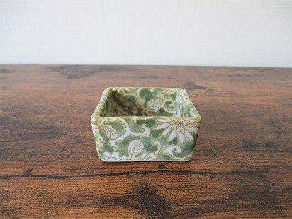 美濃焼 豆角鉢(うぐいす)