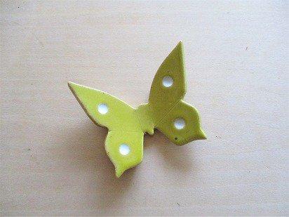 黄色い蝶の箸置き(大)