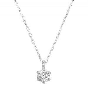 K10WG ダイヤモンドネックレス