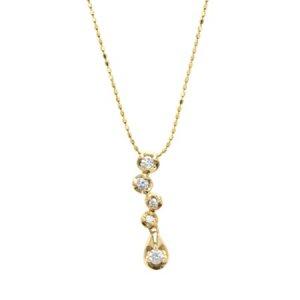 K14ダイヤモンドネックレス