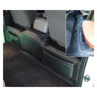 200系ハイエース ワイドボディー用デッキカバー フロント& リア ポケット付セット ブラック