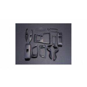 アルファード ヴェルファイア 30系 インテリアパネル  3D 立体 内装 パネル ピアノブラック 12ピース  ZERO