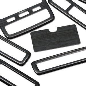 アルファード10系 前期 インテリアパネル 3D立体 黒木目 7個セット ZERO