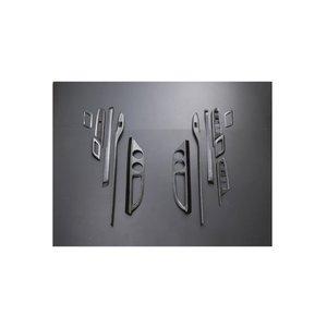 インテリアパネル アルファード ヴェルファイア 20系 3D 立体 内装 パネル マホガニー調 黒木目13ピース ZERO