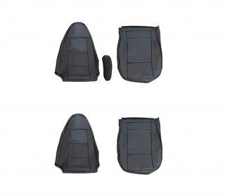 シートカバー ベストワン ファイター  運転席・助手席 1台分セット パンチングブラックPVCレザー ZERO