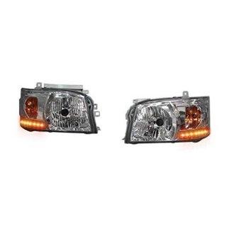 ハイエース200系 1型 2型 ヘッドライト オレンジ LED ライト 標準 ワイドボディ 左右セット 2点  ZERO