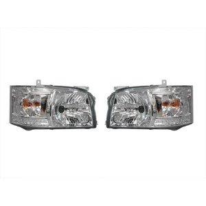 ハイエース200系 1型 2型 ヘッドライト ホワイト LED ライト クリアタイプ 標準 ワイドボディ 左右セット 2点  ZERO