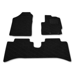 フロアマット アクア 10系 NHP10 AQUA カーマット ブラック 織り柄 3ピース ZERO