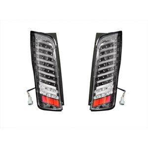 テールランプ LED NV350 E26 キャラバン ファイバー ストップランプ バック ブラック 左右 2個 セット ZERO