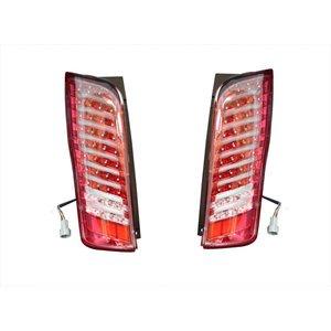 テールランプ LED NV350 E26 キャラバン ファイバー ストップランプ バック レッド 左右 2個 セット ZERO