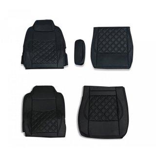シートカバー いすゞ ギガ用 GIGA シートカバー 運転席 助手席 1台分セット ダイヤキルト ブラックステッチ  ZERO