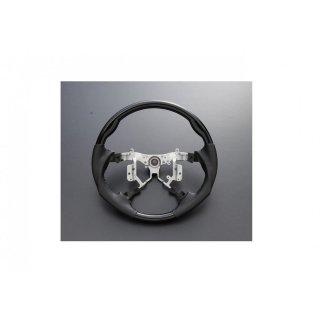 ステアリング エスティマ50系 ブラック PVCレザー ガングリップ ピアノブラック  ZERO