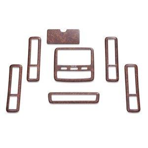 アルファード10系 前期 インテリアパネル 3D立体 茶木目 7個セット ZERO P0110