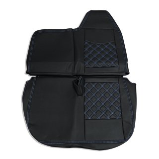 ブルーテックキャンター 8型 ワイドキャブ H22/11〜H28/3 助手席 ダイヤカット ブルー ステッチ PVC レザー シートカバー AP-CV027L-BL