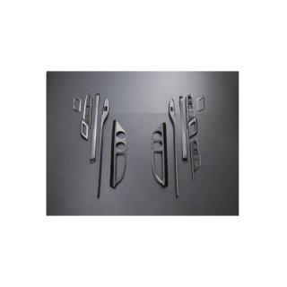 インテリアパネル アルファード ヴェルファイア 20系 3D 立体 内装 パネル マホガニー調 黒木目13ピースP0857