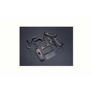 インテリアパネル アルファード ヴェルファイア 30系 3D 立体 内装 パネル カーボン調 12ピース P1023