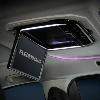 フリップダウンモニター 後部座席 画面 30系 アルファード ヴェルファイア 13.3インチ BLACK 専用取り付けキット付属FLEDERMAUS SON-1