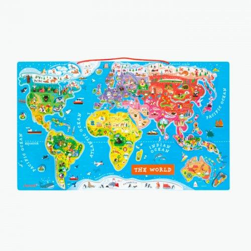 Janod(ジャノー)<br>マグネット・ワールドマップ・パズル