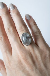 Brookite in Quartz Ring K14