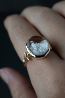White Garden Quartz Ring