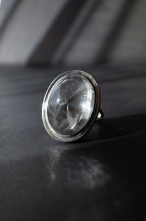 Brookite in Quartz Ring