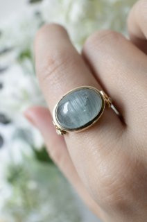 Cats Eye Aquamarine Ring - 003