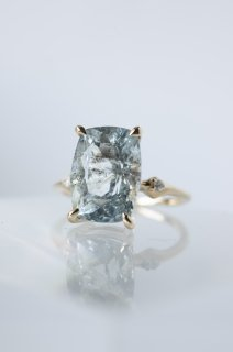 Moss Aquamarine Ring - 004