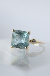 Moss Aquamarine Ring - 005