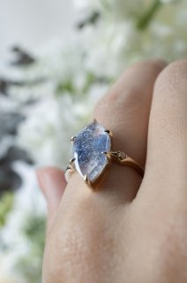 Dumortierite in Quartz Ring - 001