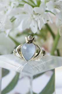 My Claddagh RIng x Dumortierite in Quartz - 008