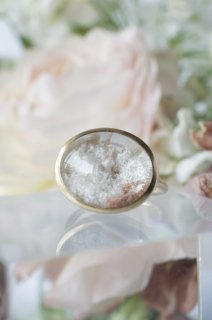 White Garden Quartz Ring - 006