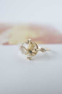 Starburst Rutilated Quartz Ring