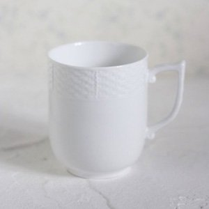 ラウンドトレスマグ/白磁 真っ白い食器 カップ コップ