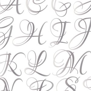 LOUNA ALPHABET [LL] (ルナアルファベット・ メタリックシルバー)