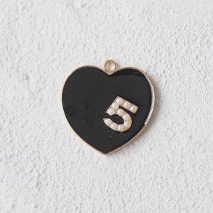 ハート5 (ブラック&パール)