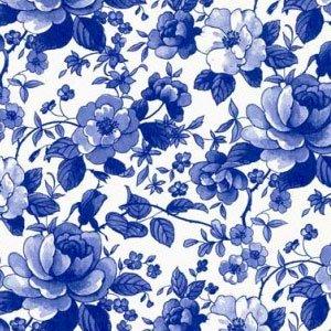 【特別アウトレット】FLOWER CHINTZ BLUE (フラワーチンツブルー)(無くなり次第終了)
