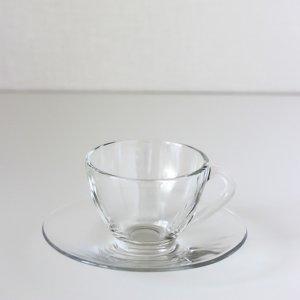 ティーカップ&ソーサー(ガラス)