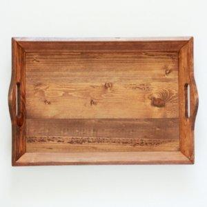ウッドトレイ(ブラウン)(無くなり次第終了)/ トレー おぼん 木製 北欧