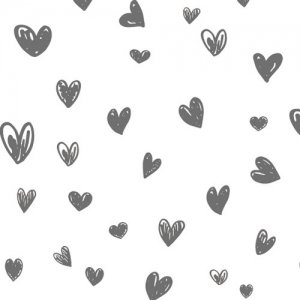 HEART HANDWRITING(L)(ハート ハンドライティング・ダークグレー)