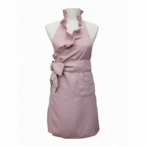 フリルカラーエプロン(ピンク) / 大人可愛い エプロンドレス フェミニン